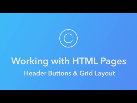 Ionic Creator Tutorials // Working With HTML Pages // Header Buttons & Grid Layout
