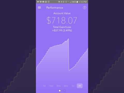 Make ACORNS 1 Year Review. Great Investing app! Pics