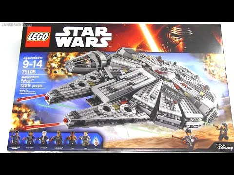 Speedy build: LEGO Star Wars Millennium Falcon 75105 (Force Awakens ...