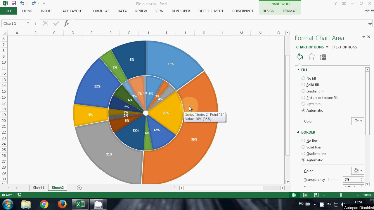 Howto multilevel pie in excel also youtube rh