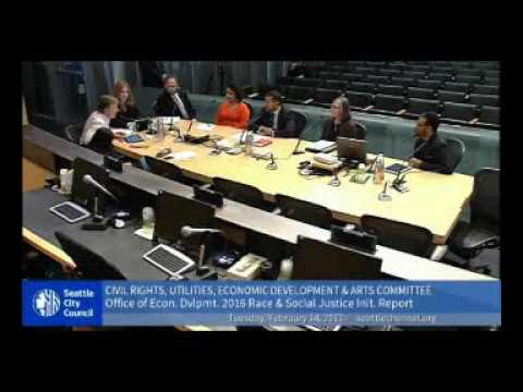 Seattle City Council Committee Meeting: Office of Economic Development - February 14, 2014