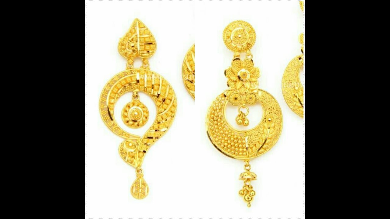buy gold hallmarked earring by odczndk hanshita earrings product bis jewellers kalyan candere