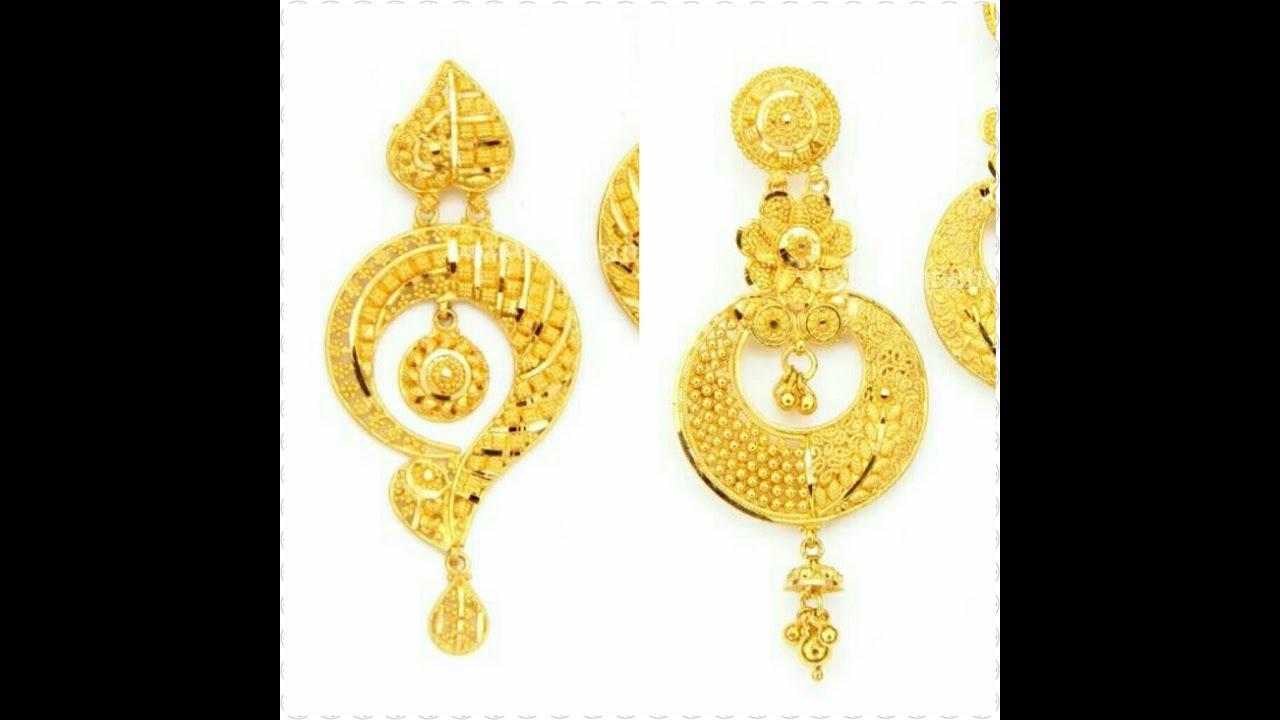 22k Earrings 22k Gold Earrings Online Goldpalace