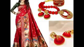 Navratri Day 16-10-2018 ||Beautiful  Red color All Collection For Womens||