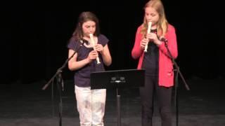 Emma Barr & Céline Opitz, Recorder Duet - Al Whittle Theatre in Wolfville, NS