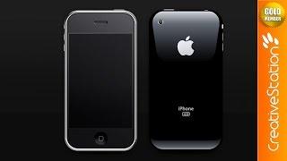 iPhone 3Gs Recreation - Speed art (#Photoshop) | CreativeStation GM