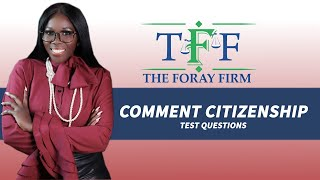 The Foray Firm Video - What Are Common Citizenship Test Questions? | The Foray Firm