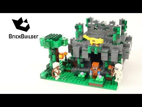 Lego Minecraft 21132 Jungle Temple - Lego Speed Build