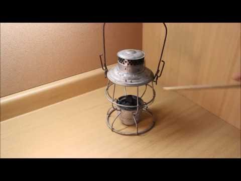 Adlake Reliable tall globe railroad lantern