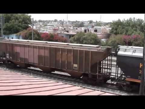 Kansas City Southern de Mexico Mixed freight Trains at Queretaro