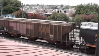 Kansas City Southern de Mexico Mixed freight Trains at Queretaro