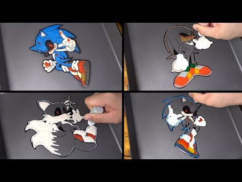 Sonic exe Pancake art - sonic the hedgehog, tails, knuckles