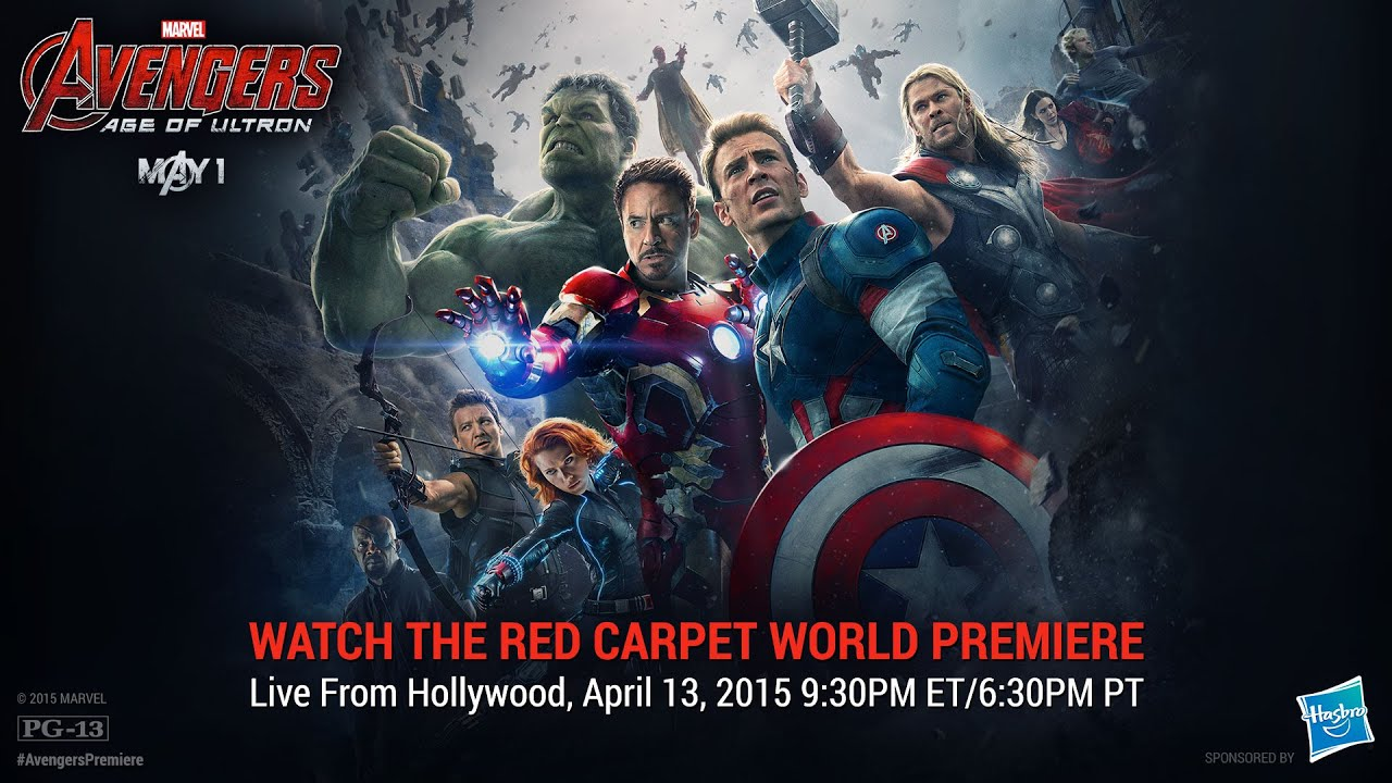 marvel's avengers: age of ultron red carpet premiere - youtube