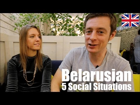5 Social Situations in which Belarusian is spoken