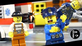 Lego Ambulance Robbery Crazy Bank Heist Car Junkyard Chase Lego City Police Stop Motion Animation