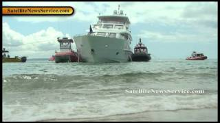Multimillion Dollar Yacht Runs Aground- Falmouth, MA (08-05-11)