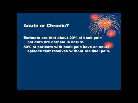 Acute or chronic