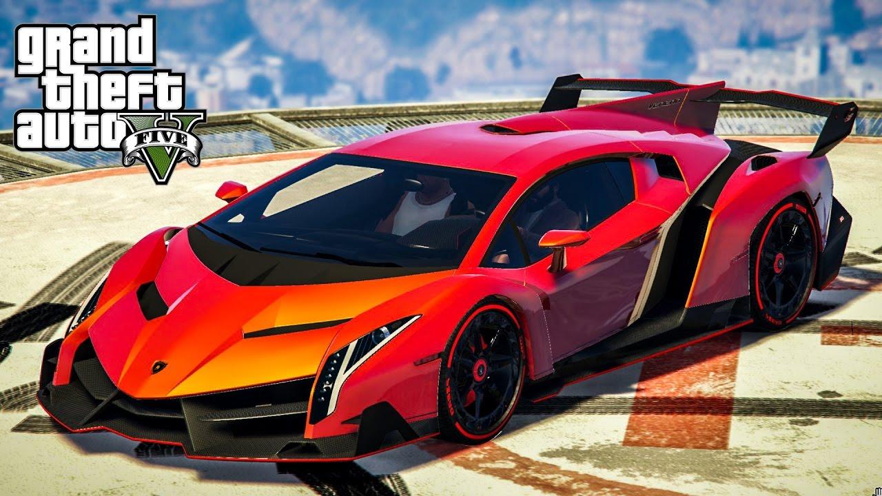 เวเนโน่ โคตรพญากระทิง !!! (Lamborghini Veneno MOD GTA5)
