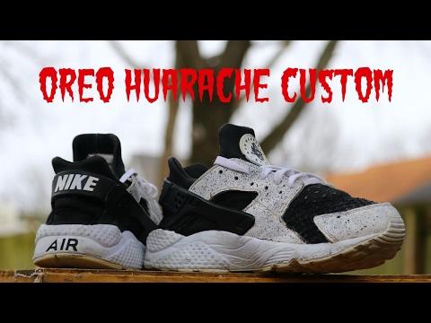 ff76cc0fa31 Oreo nike huarache custom! - YouTube