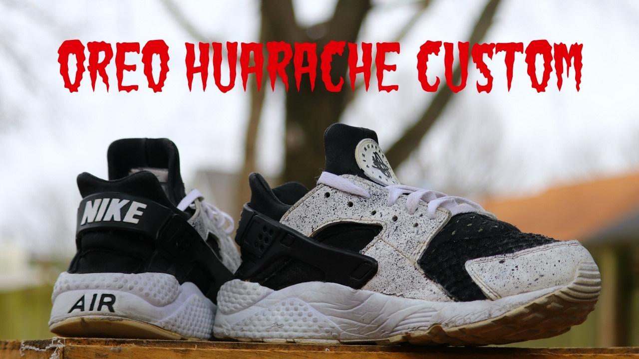 b4c2ebcbabd Oreo nike huarache custom!