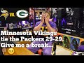 Minnesota Vikings tie the Packers.  29-29