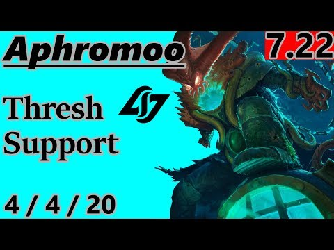 CLG Aphromoo as Thresh Support - S7 Patch 7.22 - Full Gameplay