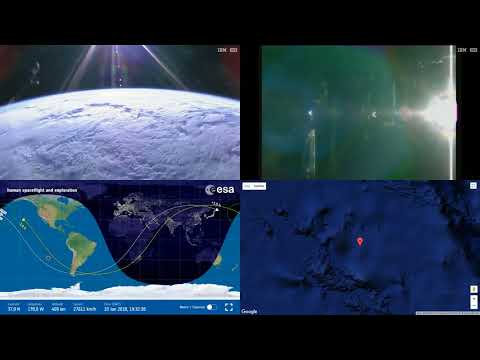 Orbital Sunrise Over Asia - ISS Space Station Earth View LIVE NASA/ESA Cameras - 26