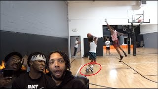 14 yr old GAME WINNING DUNK THO?! Reacting to CashNasty 1v1!
