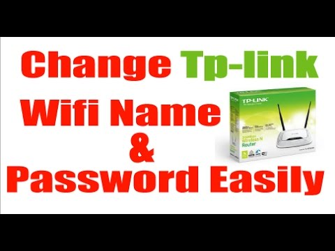 How to change wifi password tp link from laptop