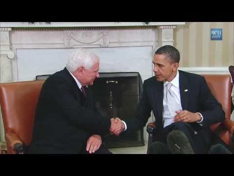 President Obama and Panamanian President Ricardo Martinelli