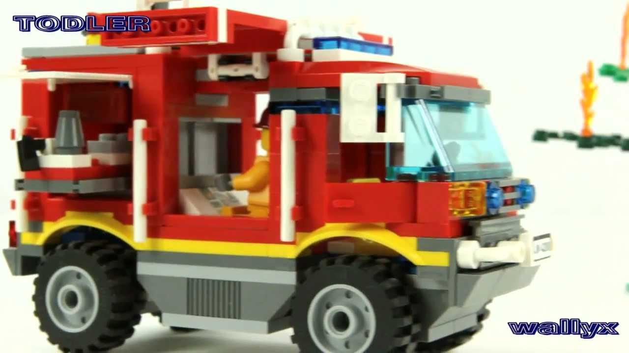 Lego City 4208 Terenowy Wóz Strażacki Youtube