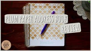 Plum Paper Address Book⎪Review