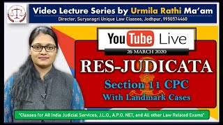 Doctrine of Res Judicata | CPC 1908 | Section 11with Important Sections | By Urmila Rathi