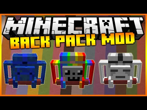 Minecraft Adventure Backpack Mod Amazing Backpack With Special Abilites Mod Showcase Youtube