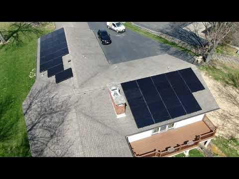 Solar Panel Installation at Jamestown, Ohio by Yellowlite  Pt 1  #solarenergy2019