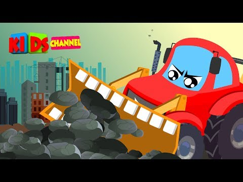 Little Red Car | Bulldozer Song | Nursery Rhymes | Songs For Kids | Car Cartoons