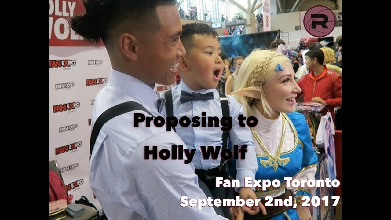 Surprise Proposal at Fan Expo 2017 x Holly Wolf and JR Gallarza