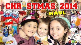 Christmas Haul 2014!! Minecraft, LEGO, Skylanders, BOOM, NERF, Science Experiments + MORE Toys!