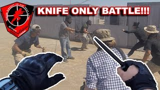 KNIFE BATTLE!! - Code Red Airsoft Park Funny Moments