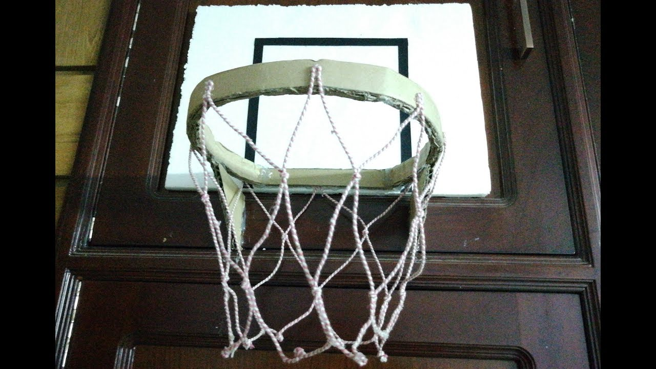 How to make a homemade basketball hoop indoor cardboar for How to build a basketball goal