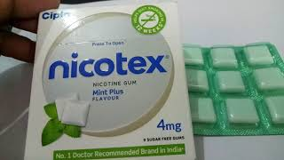 Nicotex 4 mg Tablet - Uses, Dosage, Side Effects, Composition