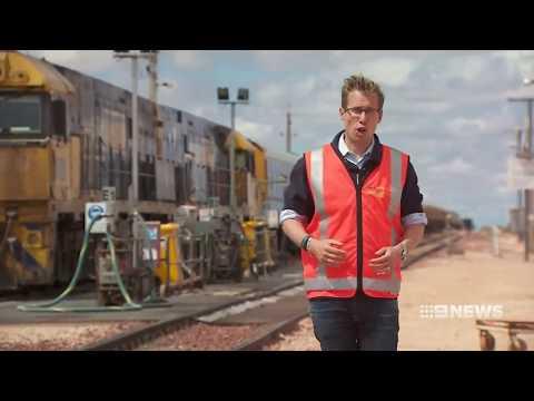 100 years of the Trans Australian Railway [9News • Oct 8 2017]