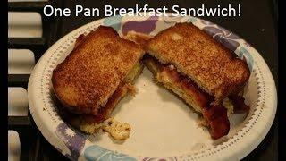 One Pan Breakfast Sandwich!  Quick & Tasty Recipe!