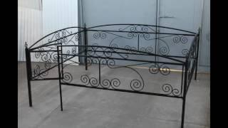 видео Кованые ограды на кладбище