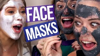 Weird Magnetic Face Masks w/ GRACE HELBIG (Beauty Break)