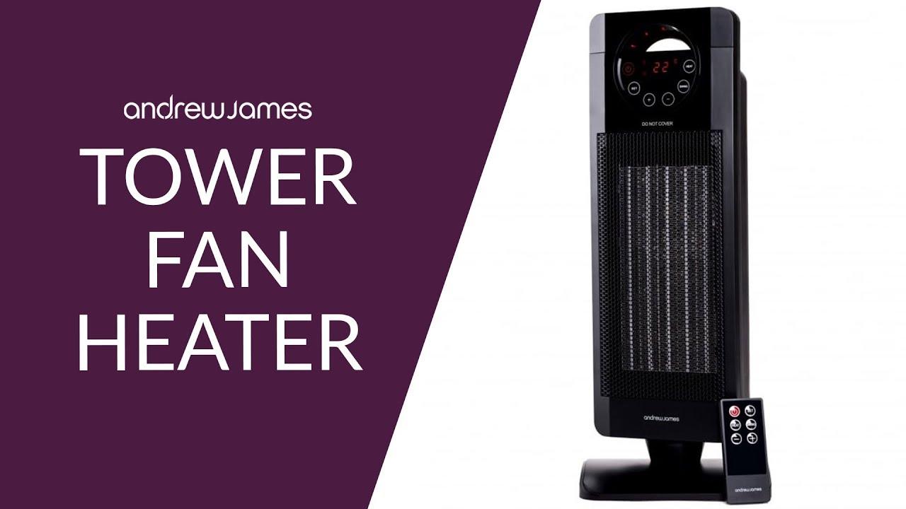 Andrew James Tower Fan Heater Youtube
