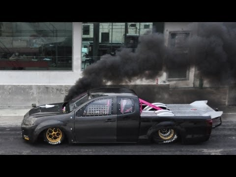 Test Run - Thailand Drag Diesel to USA - Camera GPS in Drag car (16/8/2013)