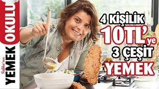 10 TL'ye 3 Çeşit Yemek | Mercimek Çorbası, Kıymalı Ekmek Pidesi ve Lahana Salatası