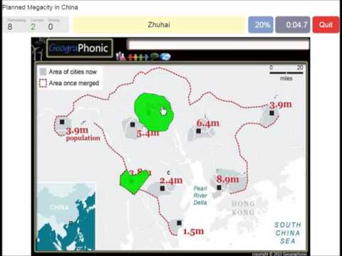 Planned Megacity in China, Guangdong, Pearl River Delta,