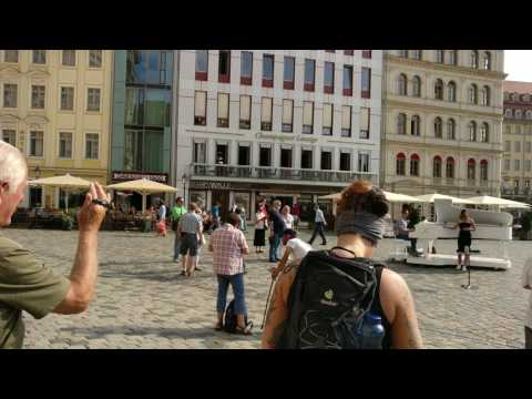 Dresden Neumarkt Street Opera